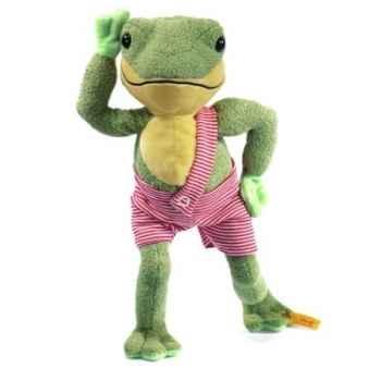 Peluche steiff grenouille hippi, vert -282225