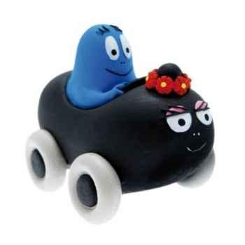 Figurine barbamama voiture et barbidul Plastoy 80601