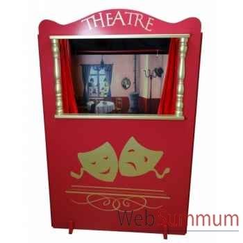 Théâtre en bois avec décor anima scéna 24520
