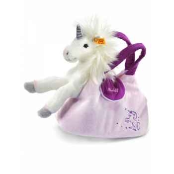 Licorne starly avec sac, blanc/rosé STEIFF -15052