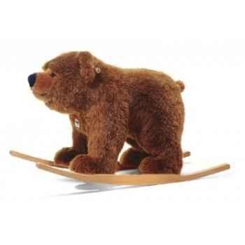 Ours à bascule urs, brun chiné STEIFF -48920