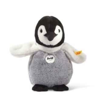 Bébé pingouin flaps, noir/blanc/gris STEIFF -57090