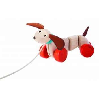 Teck le chien à tirer Plan Toys -5101