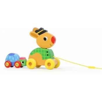 Le lièvre et la tortue musical à traîner vilac -4650