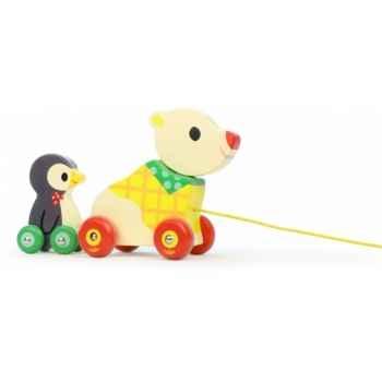 L\'ours et le pingouin musical à traîner vilac -4651