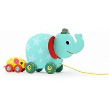 L\'éléphant et la souris musical à traîner vilac -4652