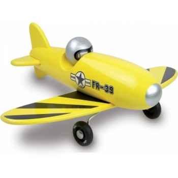 Avion voltige jaune vilac -1243Y