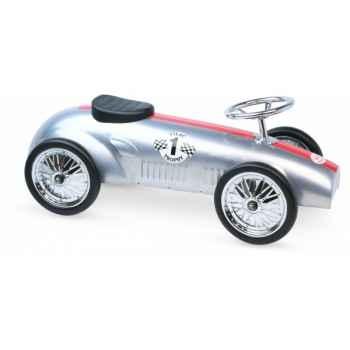 Porteur voiture de course métal argent vilac -1109