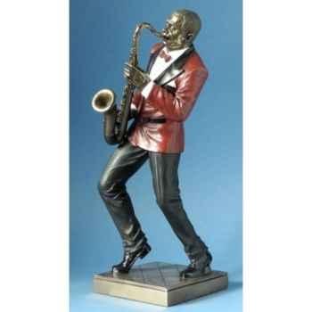 Musicien jazz saxophone veste rouge -WU76218