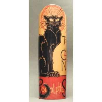 Vase Steinlen chat noir 26,5cm Parastone -SDA14