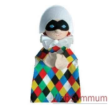 Marionnette à main Anima Scéna - Arlequin - environ 30 cm - 22211a