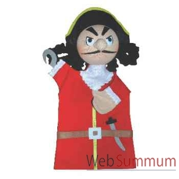 Marionnette à main Anima Scéna - Capitaine Crochet - environ 30 cm - 22077a