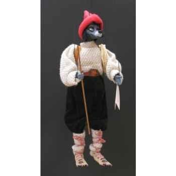 Marionnette têtes fourrure Marionnettes de France Loup montagnard -FM403F06