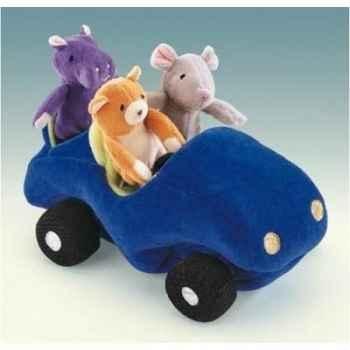 Marionnette Peluche voiture Folkmanis avec marionnettes doigts -3008