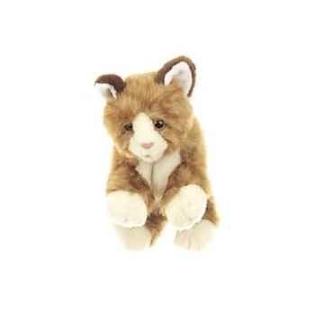 Marionnette Chaton marron-blanc Living Puppets -CM-W044