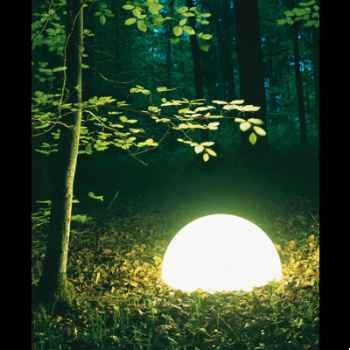 Lampe ronde socle à visser blanche Moonlight -magr350015