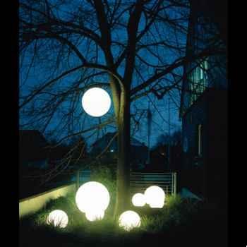 Lampe ronde socle à enfouir blanche Moonlight -mbg250020