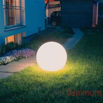 Lampe ronde socle à enfouir blanche Moonlight -mbgr750025