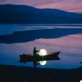 lampe ronde blanche moonlight mflr550035