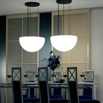 Lampe ronde à suspendre blanche Moonlight -mlhr750115