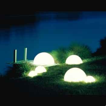 Lampe ronde Sound socle à enfouir granité Moonlight -mslmbgglmsl350
