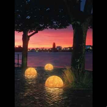 Lampe ronde Sound grès sable Moonlight -mlslmflss350.0203