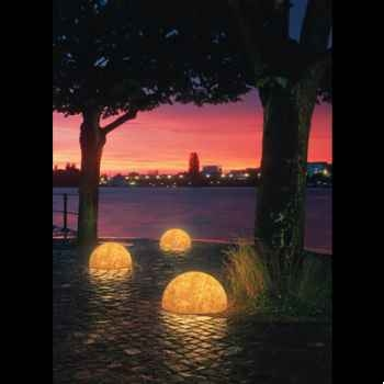 Lampe ronde Sound grès sable Moonlight -mlslmflss750.0203