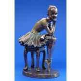 figurine parastone femme bronze attente wu73966