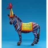 figurine anniversaire zebre hb16929
