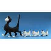 figurine chat la promenade dubout dub23