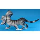 figurine chat maman et ses petits dubout dub26