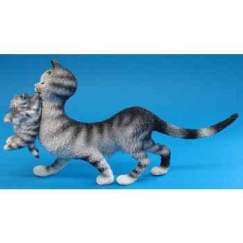 Figurine Chat maman et ses petits Dubout -DUB26