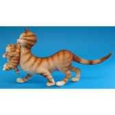 figurine chat maman et ses petits dubout dub27