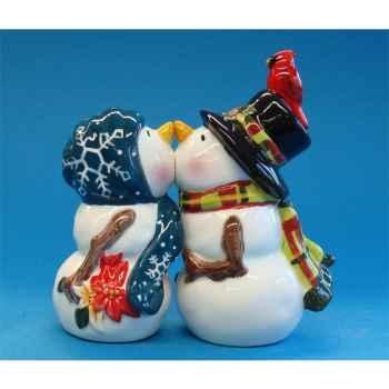 Figurine Bonhomme de neige - Sel et Poivre -MW93460
