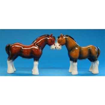 Figurine Chevaux Sel et Poivre -MW93477