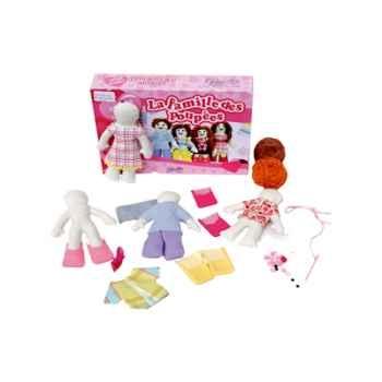 Famille de poupées en chiffon à habiller -800155