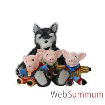 Marionnette Le loup et les trois petits cochons The Puppet Company -PC003402