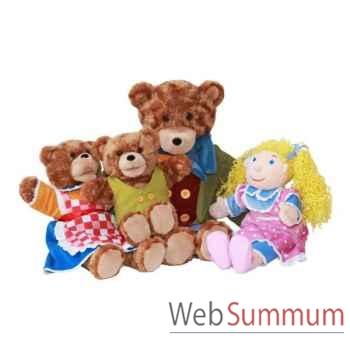 Marionnette Boucle d\'or et les trois ours The Puppet Company -PC003403
