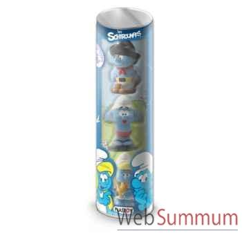 Tubo 3 figurines eveil schtroumpfs Plastoy -60846