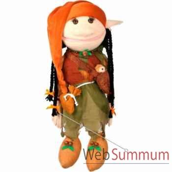 Marionnette Lutin avec hibou sauvage The Puppet Company -PC003703