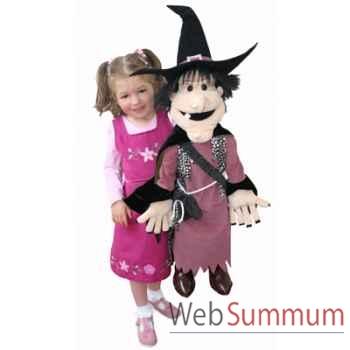 Marionnette Sorcière avec chat noir The Puppet Company -PC003701