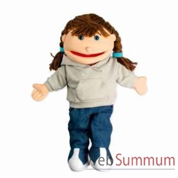 Marionnette Fille aux cheveux marrons The Puppet Company -PC002062