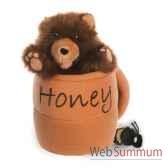 marionnette ours dans un pot a mieavec abeille the puppet company pc003021