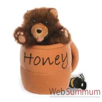Marionnette Ours dans un pot à miel avec abeille The Puppet Company -PC003021