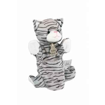 Peluche Histoire d\'ours marionnette pantin Chat tigré - HO1169
