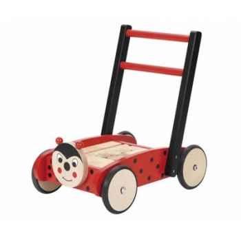 Chariot de marche Jasper Toys coccinelle avec cubes -5049252