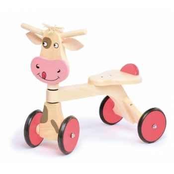 Porteur Bois Jasper Toys vache -5049361