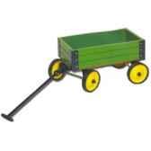 chariot en bois a tirer vert dam 14147