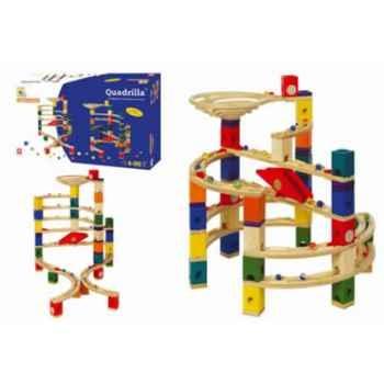 Circuit à billes en bois Quadrilla Set Twist et Rails -3628001