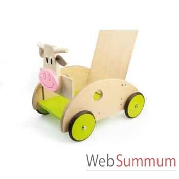 Chariot de marche en bois Marie la vache avec frein Scratch -6181417
